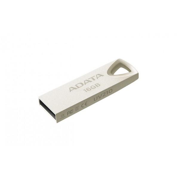 USB ფლეშ მეხსიერება, AUV210-16G-RGD, A-Data UV210 16 GB, USB 2.0, Silver