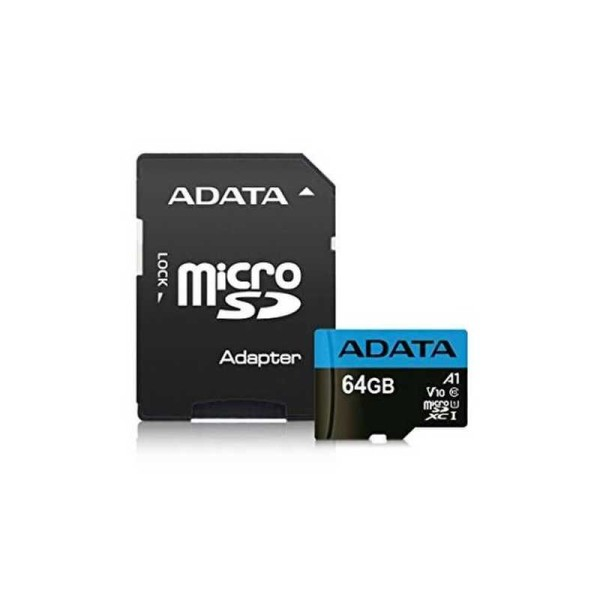 მეხსიერების ბარათი AUSDX64GUICL10A1-RA1,  A-DATA 64GB Premier microSDHC UHS-I U1 Card (Class10) with adapter Retail