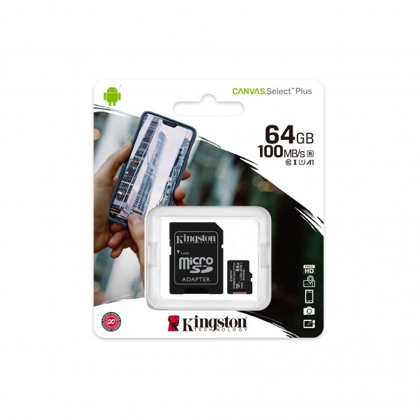 SDCS2/64, Kingston MicSD 64 GB With SD A...