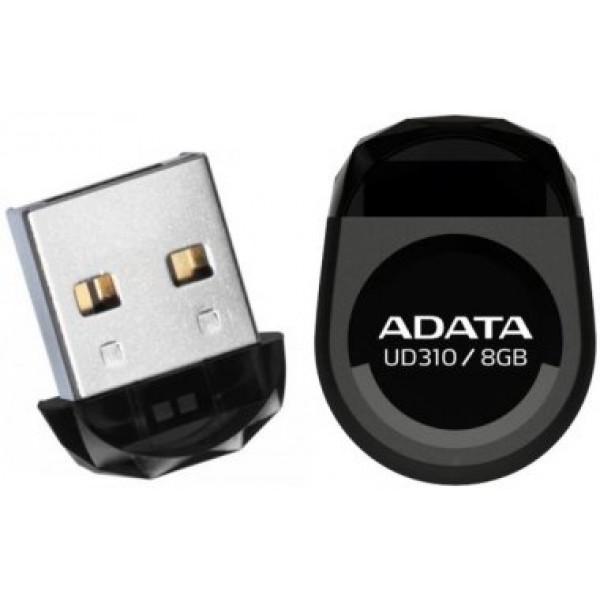 A-DATA Miniature AUD310 8GB Black USB 2.0 Flash Drive