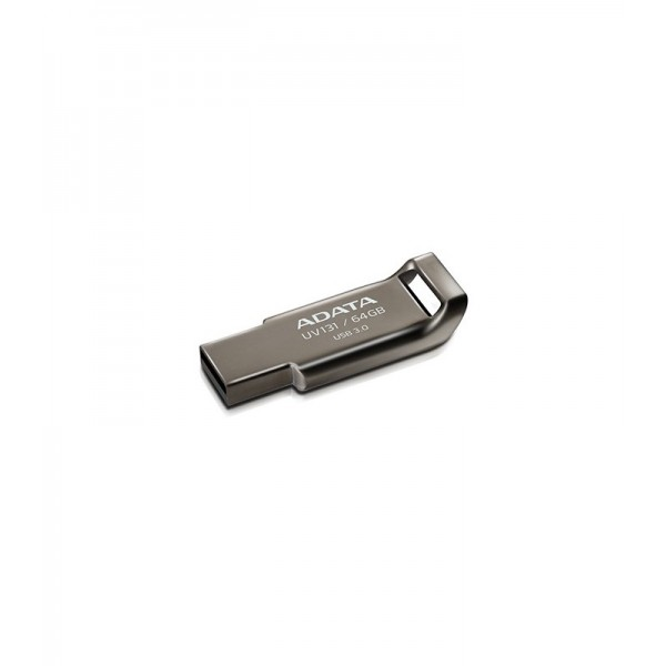 USB ფლეშ მეხსიერება,AUV131-64G-RGY, A-DATA FlashDrive UV131 64GB Chromium Grey USB 3.0 Flash Drive, Retail