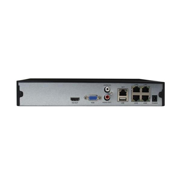 ჩამწერი NVR3604DP PAL 4CH NVR EU black H.265 With POE (Hi3536D)Bitvision