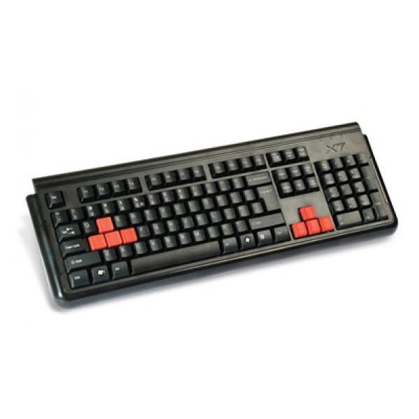 G300, A4Tech keyboard, Can-Be-Washed, Black, (US Russian) USB