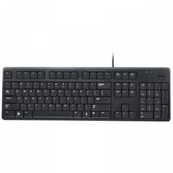 DELL Keyboard (QWERTY) KB212-B Quietkey USB Black Russian (Kit) for Windows 8