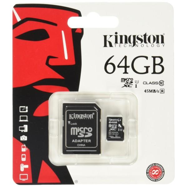 Flash Card/ Kingston MicSD 64 GB  SDCS2/...