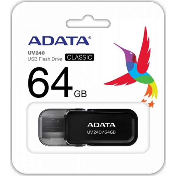 AUV240-64G-RBK, A-DATA, UV240-64GB-RETAILBLACK
