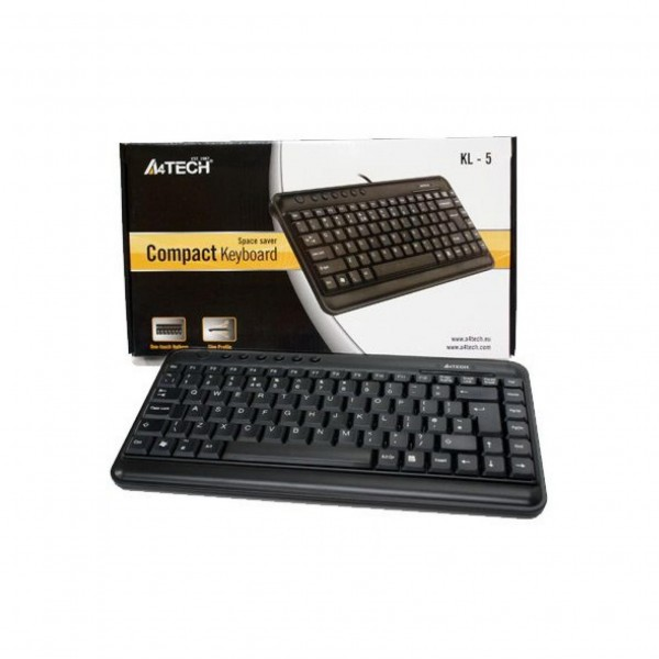 KLS-5, A4Tech keyboard, Black, (US Russian), USB
