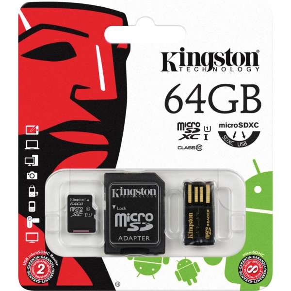 Flash Card/ MBLY10G2/64GB/ Kingston/mobility kit  (micro adapter)