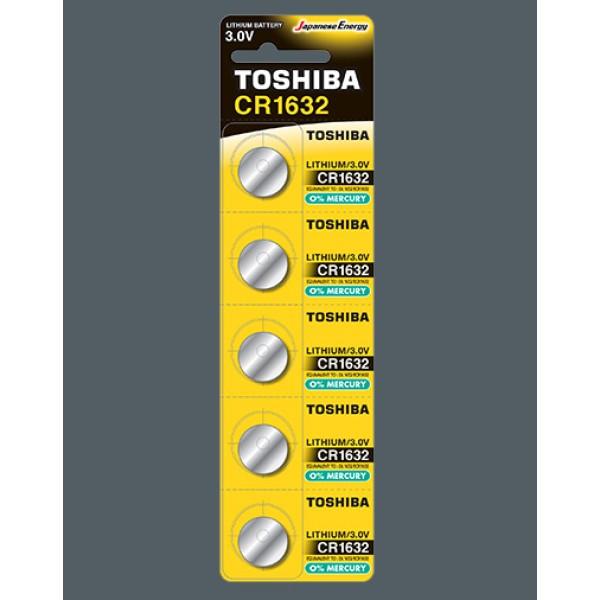 შეკვრა ელემენტების 5-ცალიანი CR1632 PW BP-5N TOSHIBA 4904530592027