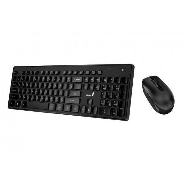 კლავიატურა SlimStar 8006, Genius Wireless Slim Keyboard   Mouse, USB Black