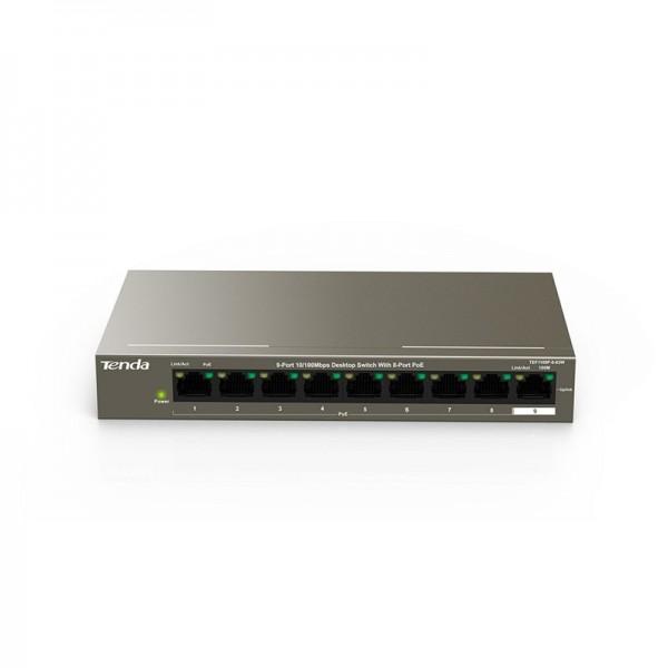 TEF1109P-8-63W (9-Port 10/100Mbps Desktop Switch with  8-Port  PoE)