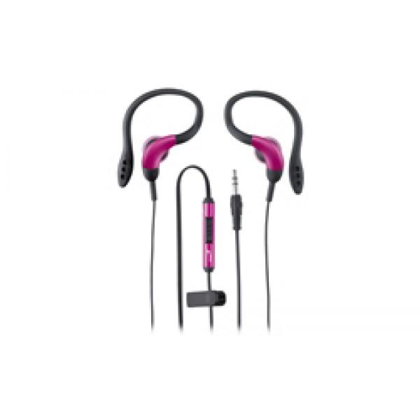 ყურსასმენი GHP-205X Pink, Genius, Headphone with ear hook, Volume Control, iPhone compatible