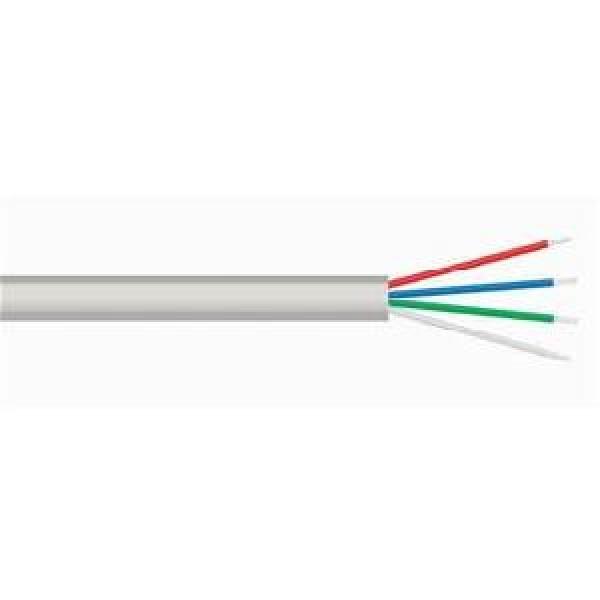 ტელეფონის კაბელი  Cat3 flat telephone cable, 4wires, 4*1*(7*0.10mm CCS), 100m/roll