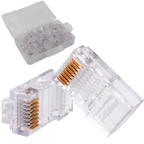 ქსელის აქსესუარი RJ45, ITD, UTP Cat5e Modular Plug,8P8C (100PCS)