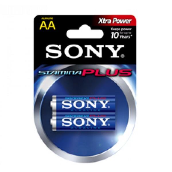SONY შეკვრა ელემენტების 2-ცალიანი AM3B2D PCALKALINE LR6 AA 1.5V X2 4901660143099