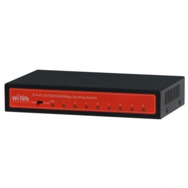 სვიჩი 8 პორტი (გიგაბიტიანი)1000M The WI-TEK 8 10/100/1000Mbps