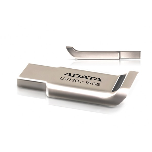 USB ფლეშ მეხსიერება, AUV130-16G-RGD, A-DATA FlashDrive UV130 16GB Champagne Golden USB 2.0 Flash Drive, Retail
