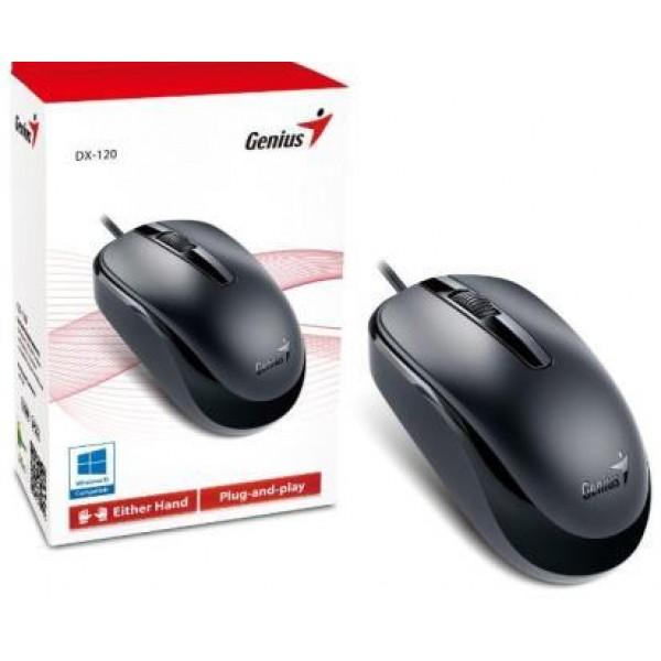 კომპიუტერული თაგვი DX-120 Black, Genius Optical Mouse, USB