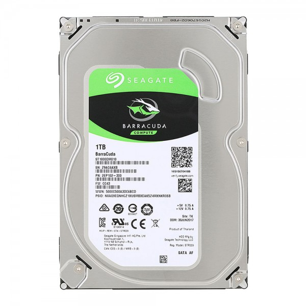 ST1000DM010, Seagate  Barracuda 1TB, SATA 3.5 7200rpm 64MB 6GB/s