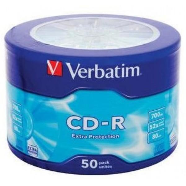 კომპაქტ დისკი  43787, CD-R, Verbatim, 52x 700Mb 50PK