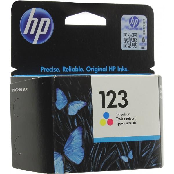 ჭავლური კარტრიჯი F6V16AE, HP 123, სამ ფერიანი
