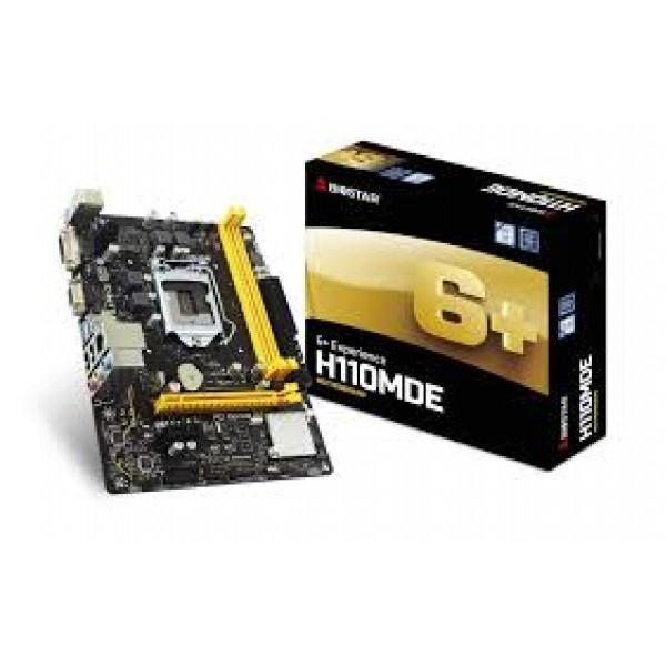 PC Components/ MotherBoard/ Biostar LGA 1151 H110,Socket1151,uATX,GbE   H110MDE