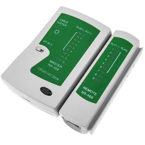 ხელსაწყო NS-468 (KD-CT005), KINGDA, Cable Tester With RJ45/RJ12/RJ11