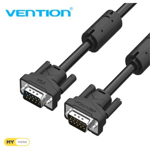 კაბელი VAG-B04-B800, Vention VGA(3 6) Male to Male Cable 8 M Black