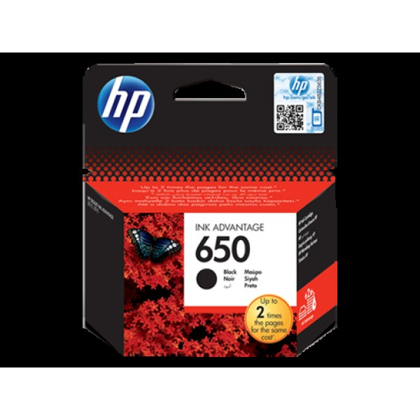 კარტრიჯი CZ101AE, HP 650 Black Ink Cartridge