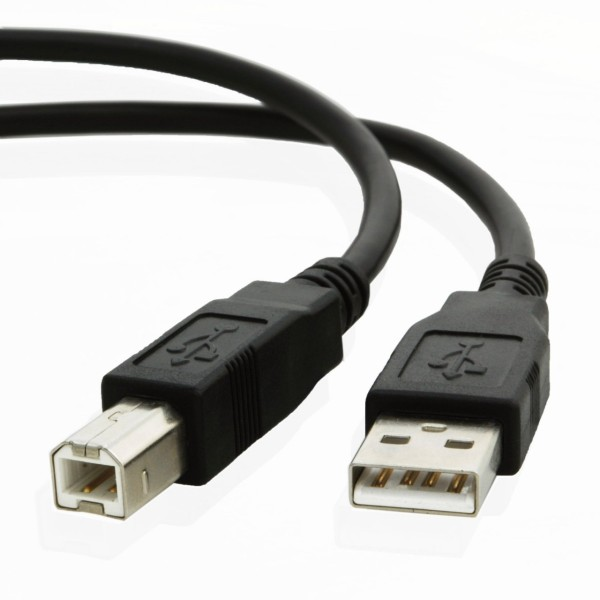 VAS-A16-B800, VENTION  USB2.0 A Male to B Male Print Cable with 2*Ferrite Core 8M Black
