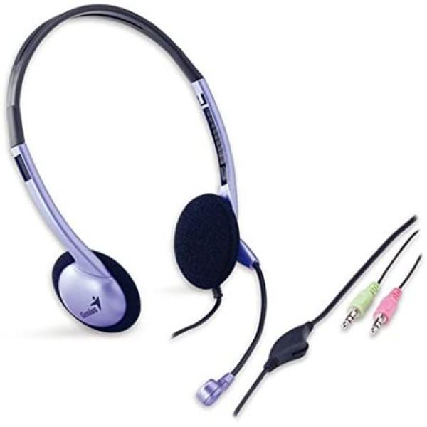 ყურსასმენი HS-02B, Genius, Headphone with Microphone, Volume Control