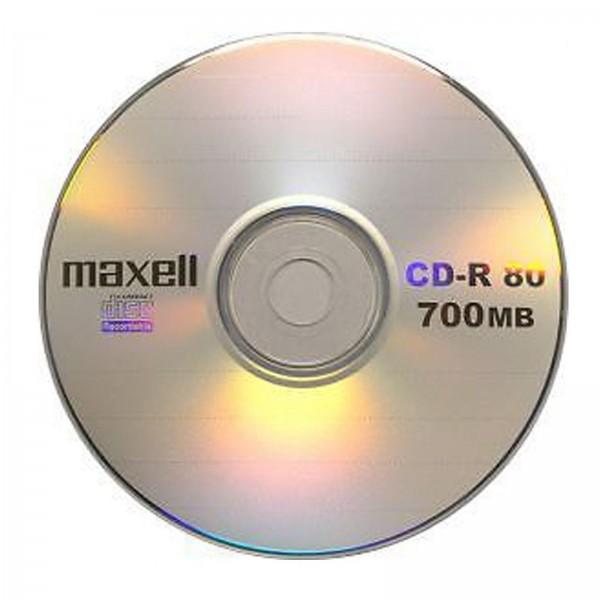 შეკვრა დისკების 50-ცალიანი CD-R 80 52X 50 SHRINK Maxell 4902580504816