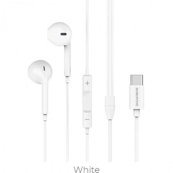 BOROFONE BM27 Amazing sound, earphones with mic, USB-C audio plug,  1.2m