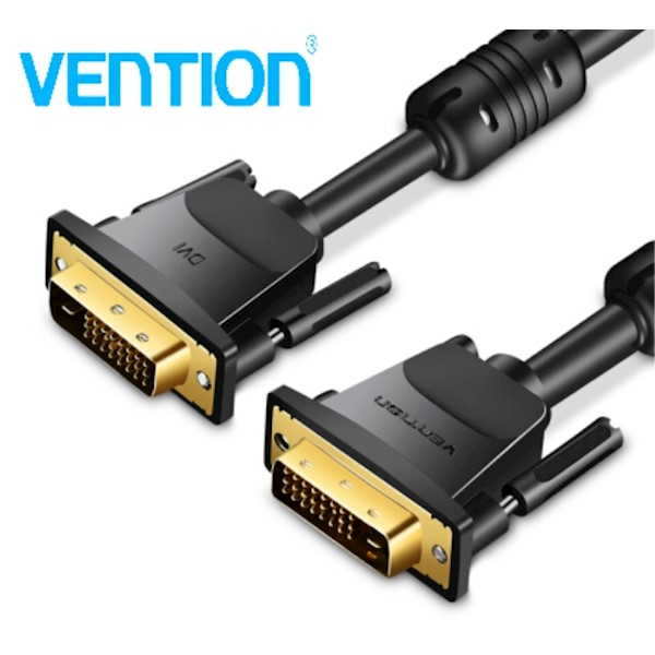 EAABF VENTION  DVI(24 1) Male to Male Cable 1M Black