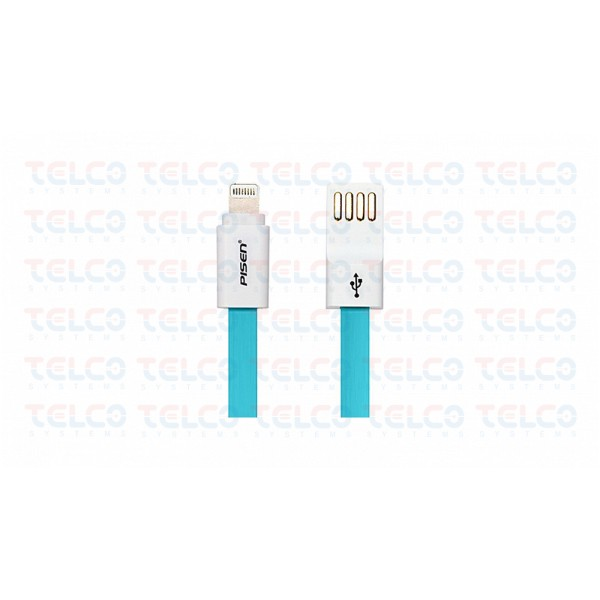 Tangle Free Noodle Style lightning cable  800 mm teal - AL03-800  (teal)