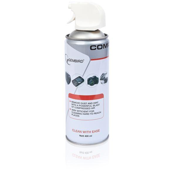 კომპიუტერის საწმენდი შეკუმშული ჰაერი Gembird Compressed air duster, 400 ml