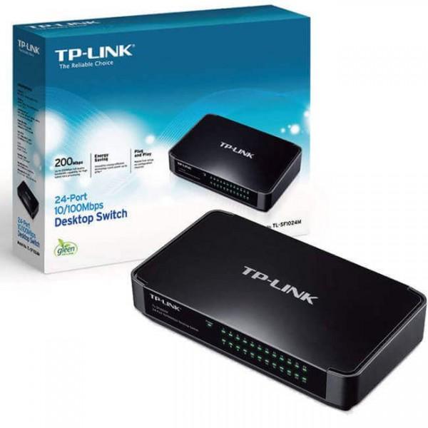 ქსელის გამანაწილებელი  TL-SF1024M, TP-Link, 24-Port 10/100Mbps Desktop Switch