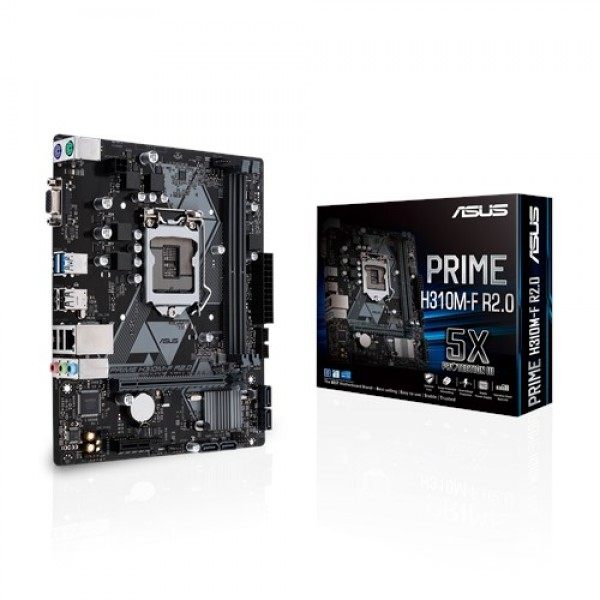 PC Components/ MotherBoard/ Asus PRIME H310M-R  Intel LGA-1151 mATX motherboard, DDR4 2666MHz, SATA 6Gbps and USB 3.1