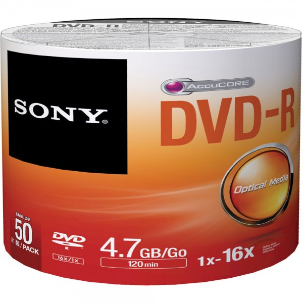 SONY 50 DMR47SB 50xDVD-R 4.7GB BULK 027242852273