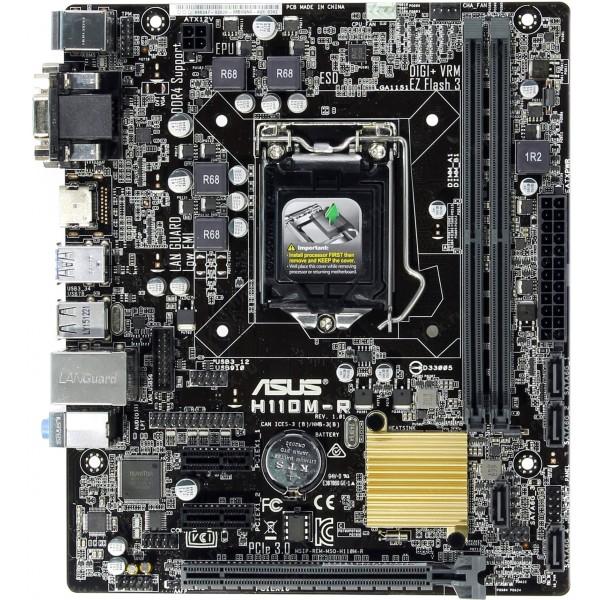 დედაპლატა H110M-R/C/SI, Asus LGA1151,2xDDR4 2133,HDMI,DVI,4*USB 3.0,4*SATA 6GB/S/1*PCLEX16,COM/TPM,8CH AUDIO