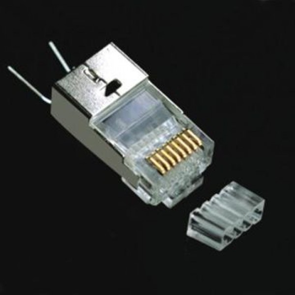 RJ-45 Cat 6, P88R5Z50V2SIT-3Y-1.5 - STP PLUG, FOR ROUND CABLE