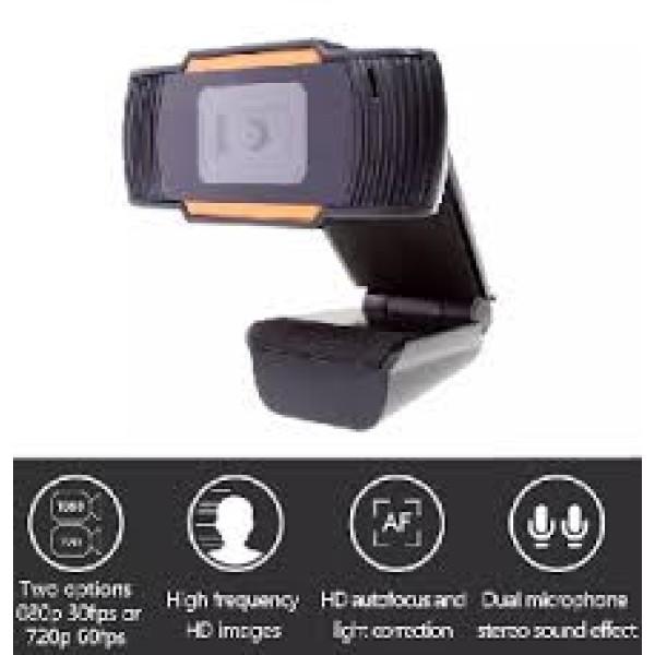Webcam for Computer 1280*720p, USB 2.0 3.5mm port, CABLE 1.2m