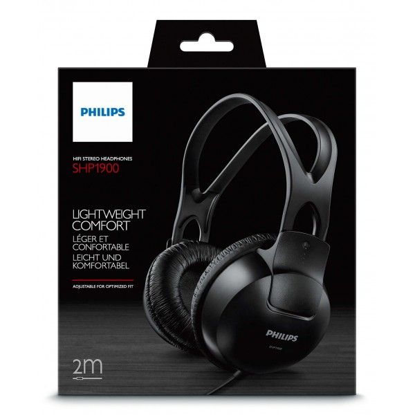 Philips SHP1900 BLACK, Full size headphones, cord lenght 2m