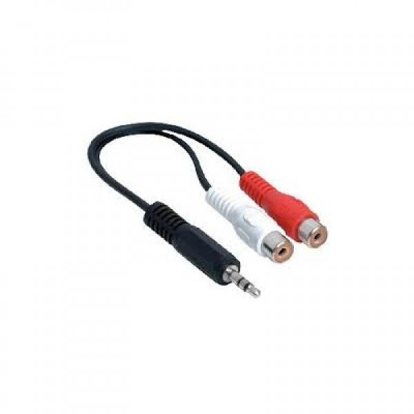 KD-AVC9002, Kingda, 3.5mm to 2 RCA female cable,0.15M