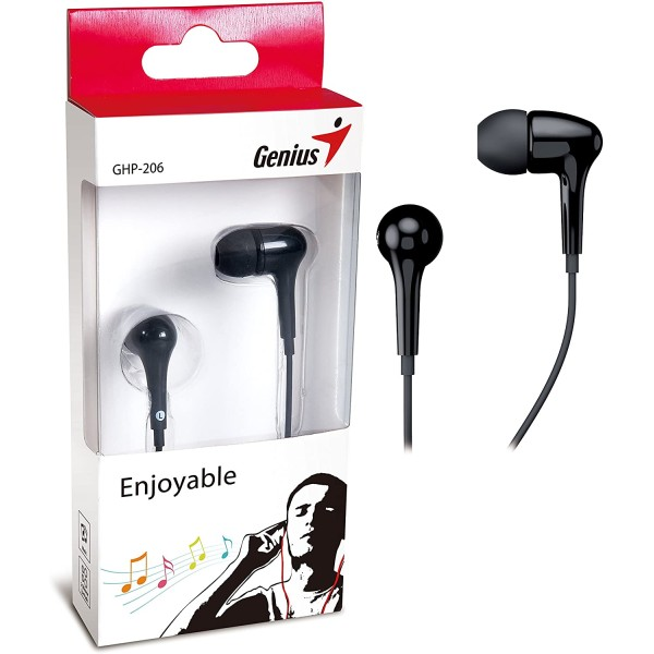 ყურსასმენი  GHP-206 Black, Genius Earphones