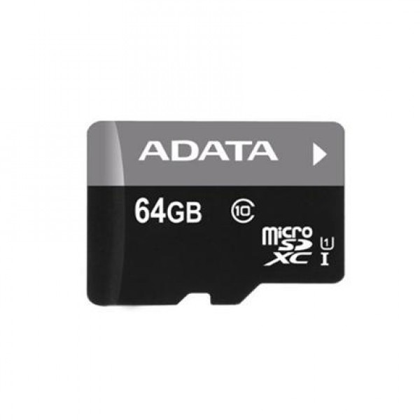 ADATA 64GB Premier microSDHC UHS-I U1 Card (Class10) with adapter Retail