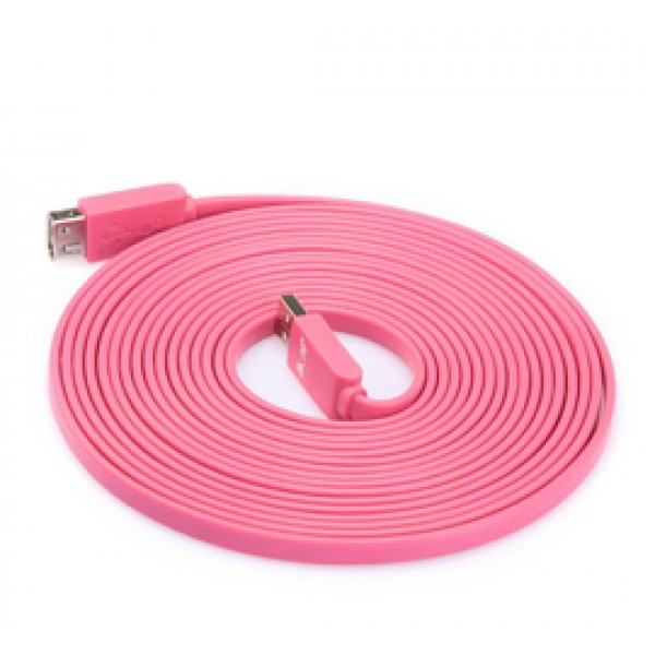 Cable/ Flat USB Extension Cable 3m