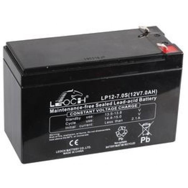 აკუმლიატორი LP12-7.0, LEOCH Rechargable Battery