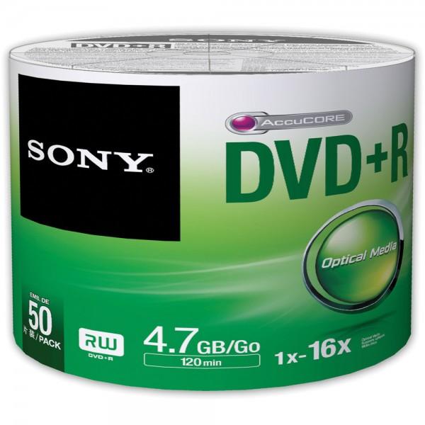 SONY შეკვრა დისკების 50-ცალიანი 50DPR47SB DVD R 4.7Gb BULK 027242852297