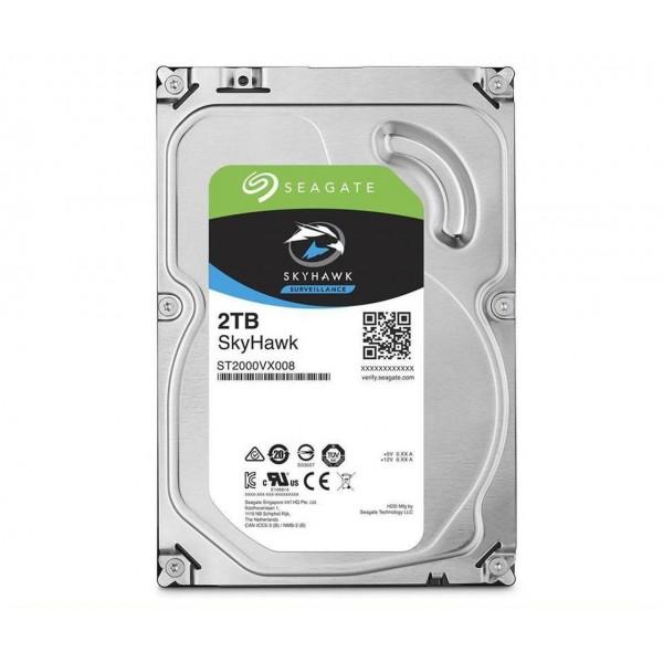 მყარი დისკი ST2000VX008, Seagate SkyHawk 2TB SATA Hard Drive 7200RPM 6Gb/s 64MB Cache